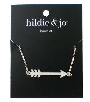 hildie & jo 8'' Metal Arrow Bracelet-Silver