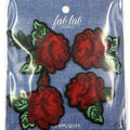 Fab Lab Wearables 4 pk Rose Iron-on Appliques
