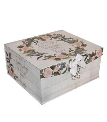 Extra Large Fliptop Storage Box-Floral