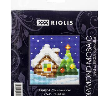 RIOLIS Diamond Mosaic Embroidery Kit 4''X4''-Christmas Eve