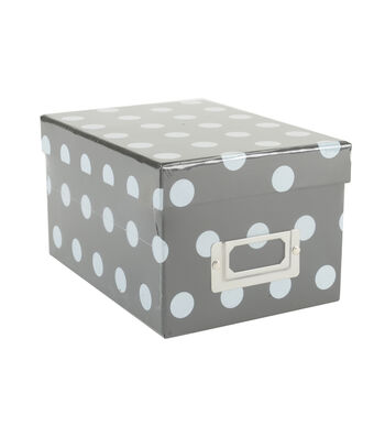 Mini Photo Storage Box-Dots Black