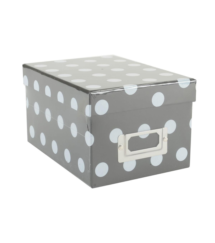 Mini Photo Storage Box Dots Black