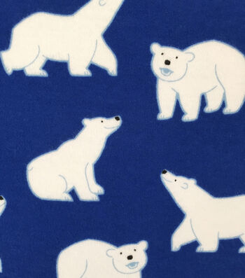 Doodles Juvenile Apparel Fabric -Polar Bear Buddy Interlock
