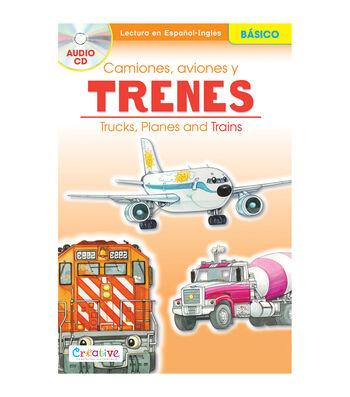 Pbs Publishing Spanish-English Book With CD-Trucks, Planes & Trains