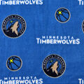 Minnesota Timberwolves Fleece Fabric-Allover