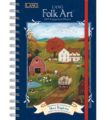 LANG Folk Art 2019 Spiral Bound Engagement Planner