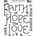 York Wallcoverings Peel & Stick Wall Decals-Faith, Hope & Love