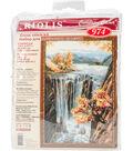 RIOLIS Combopu Cama 15.75\u0027\u0027x22.75\u0027\u0027 Counted Cross Stitch Kit-Waterfall