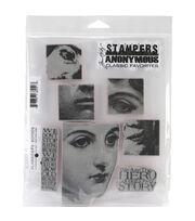 Tim Holtz Cling Rubber Stamp Set-Classics #5, , hi-res