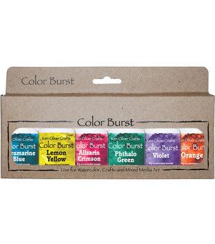 Ken Oliver Crafts Color Burst 6 pk 0.21 oz. Watercolor Powder-Brights