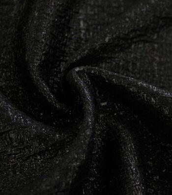 Metallic Textured Jacquard Fabric-Black