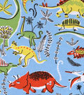 Snuggle Flannel Fabric -Dinos