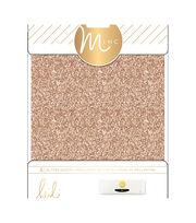 """Heidi Swapp Minc Glitter Sheets 6""""X8"""" 4/Pkg-Rose Gold, , hi-res"""