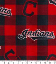 Cleveland Indians Fleece Fabric-Buffalo Plaid, , hi-res
