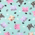 Super Snuggle Flannel Fabric-Multi Cat Faces
