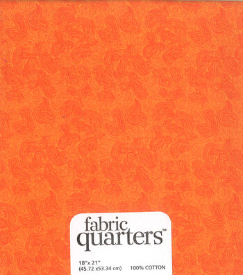 "Fabric Quarters Cotton Fabric 18""-Orange"