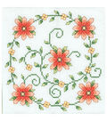 Swirl Of Flowers Quilt Blocks Stamped Cross Stitch-18\u0022X18\u0022 6/Pkg