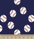 Baseball Toss Print Fabric