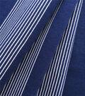 Knit Prints Pima Cotton-Navy White Thick & Thin Stripe