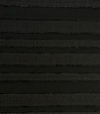 Silky Crepe Sheer Fabric 56''-Black Stripes