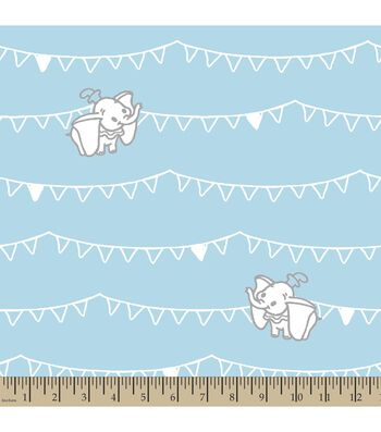 Disney Dumbo Print Fabric-Flags