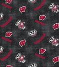 University of Wisconsin Badgers Flannel Fabric 42\u0022-Distressed Logo