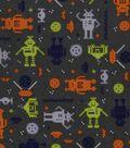 Snuggle Flannel Fabric 42\u0022-Techno Robots
