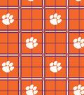 Clemson University Tigers Flannel Fabric 42\u0022-Plaid