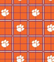"Clemson University Tigers Flannel Fabric 42""-Plaid, , hi-res"