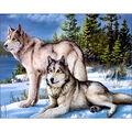 Collection D\u0027Art Diamond Embroidery/Printed/Gem Kit 48X38cm-Wolves
