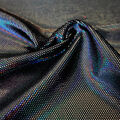 Apparel Stretch Velvet Fabric -Black Foil
