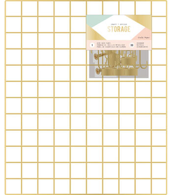 "Crate Paper Wire System Grid Panel 20""X24""-Gold"