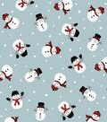 Anti-Pill Fleece Fabric 58\u0022-Falling Snowmen