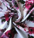 Summer Ponte Knit Fabric 57\u0027\u0027-Pink Watercolor Floral