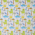 Soft & Minky Fleece Fabric-Dinosaurs Clouds