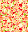 Tutti Fruitti Embossed Basic Fabric Free Dots Yellow