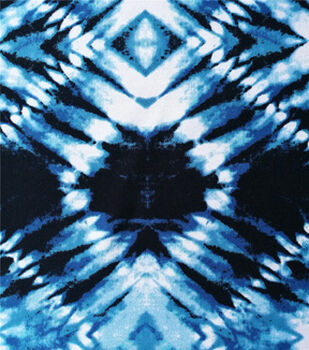 Stretch Chiffon Fabric 57''-Navy Diamond Tie Dye