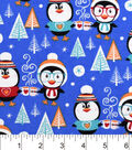 Snuggle Flannel Fabric -Toasty Penguins