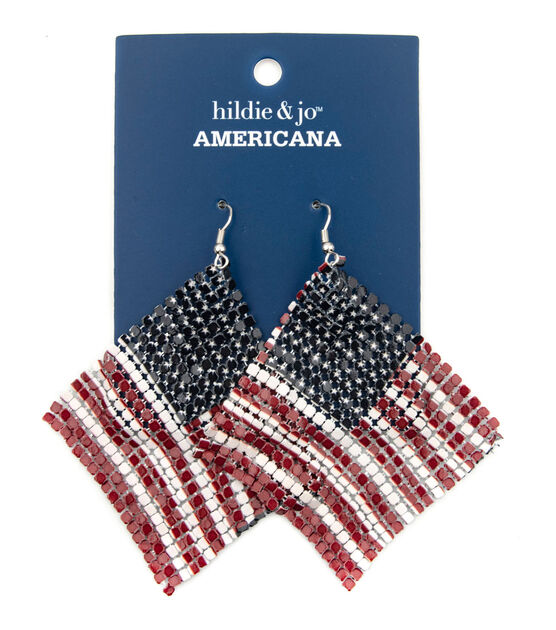 Faux Leather Americana Earrings American flag earrings jewelry gift red white and blue 4th of July stars and stripes country proud military