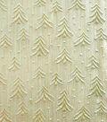 Sew Sweet Embossed Tree Lame Decorating Fabric 58\u0022-Gold