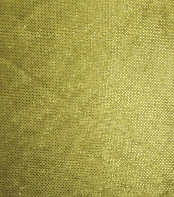 """Glitterbug Panne Velvet Fabric 59""""-Yellow Foil"""