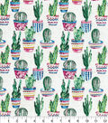 Novelty Cotton Fabric-Painted Cactus