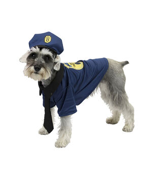 Maker's Halloween Pet Costume-Police Small