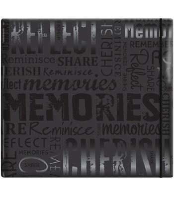 """MBI Gloss Scrapbook 12""""X12""""-Memories-Black"""