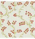 Waverly Sheer Fabric 57\u0022-Indochine Emb/Radish