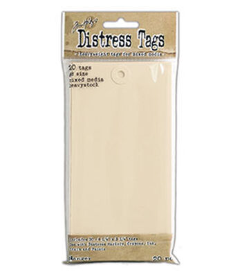 Tim Holtz Distress Pack of 20 Mixed Media Heavystock Tags #8
