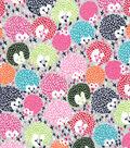 Snuggle Flannel Fabric -Bright Porcupines