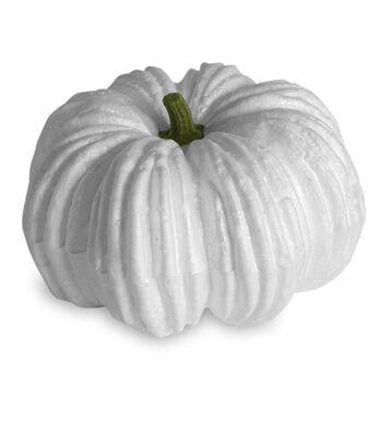Floracraft Styrofoam Small Pumpkin with Green Stem