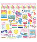 Photoplay Paper Those Summer Days 12\u0027\u0027x12\u0027\u0027 Cardstock Stickers-Element