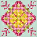 Diamond Dotz Diamond Embroidery Kit 4.75\u0027\u0027X4.75\u0027\u0027-Patchwork Mandala 1